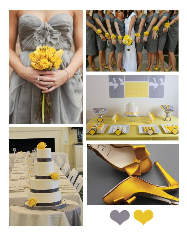 Grey and yellow color scheme