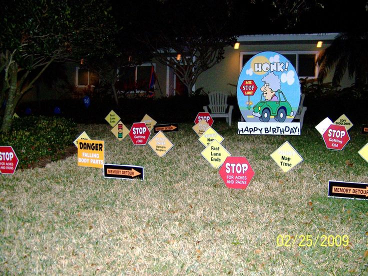 Birthday Yard Signs Traffic Signs 50th Birthday Party
