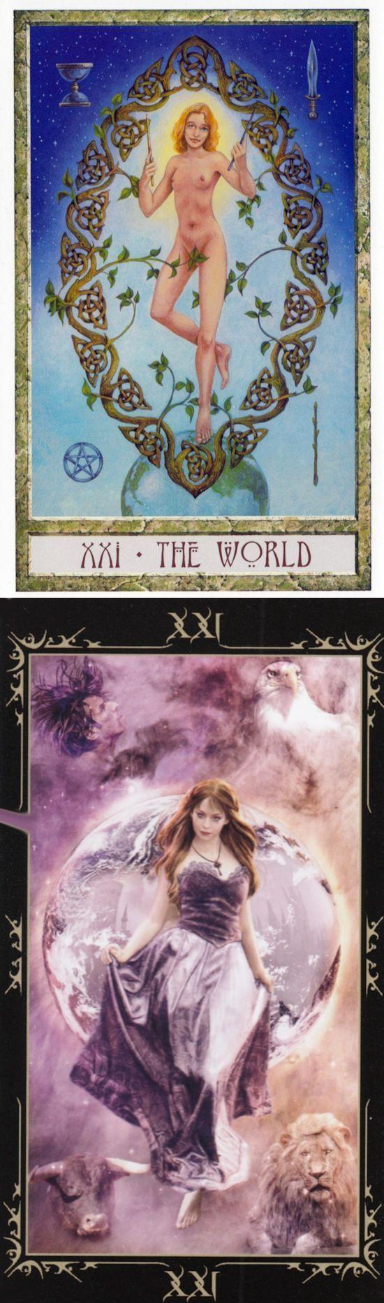 THE WORLD: completion and incompletion (reverse). Druid Craft Tarot deck and Dark Fairytale Tarot deck: tarottapestry, tarotto go vs one card tarot. New tarot cards how to read and tarot meanings major arcana. #spells #empress #iosapplication #tarotcardshowtoread