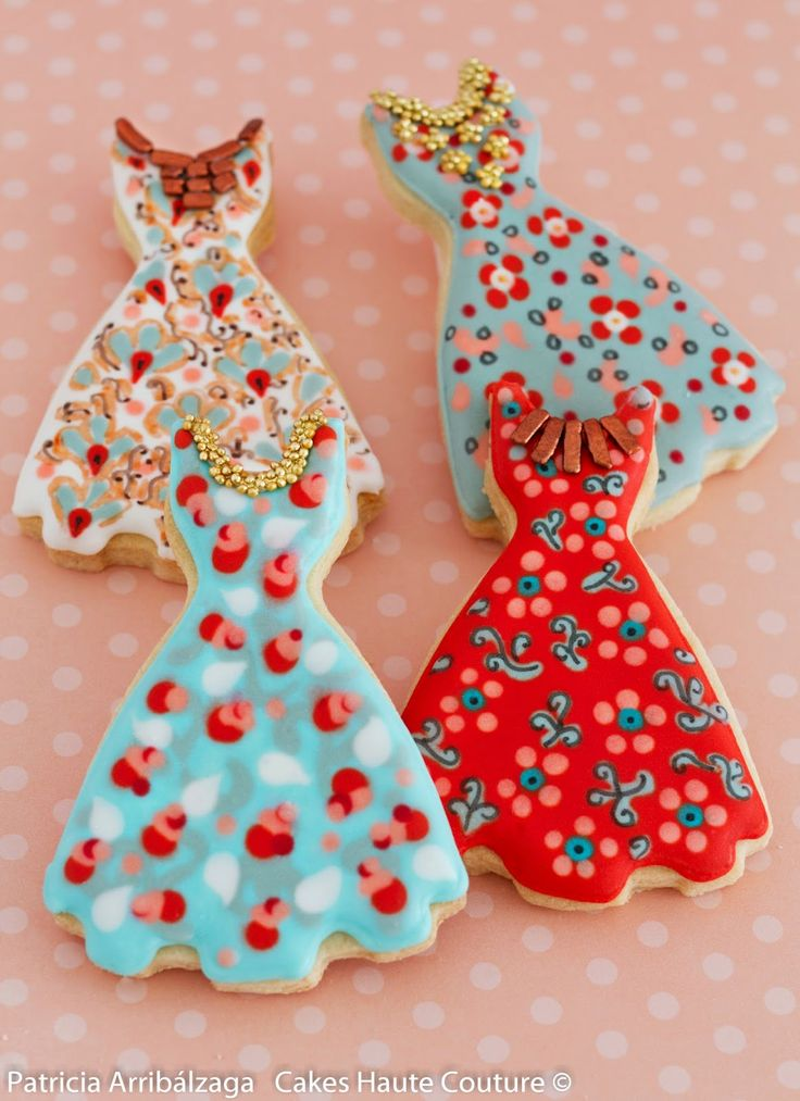 Course decorated cookies