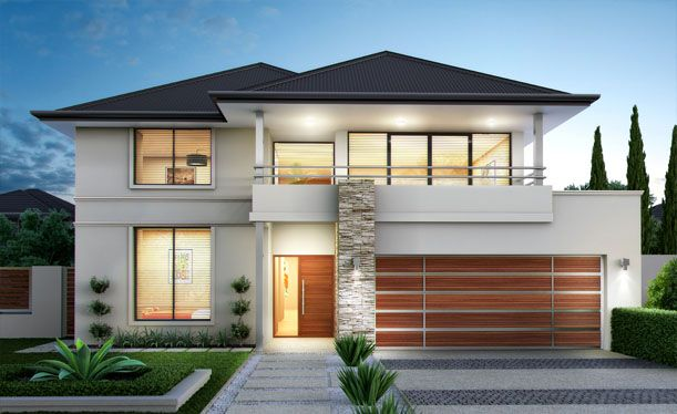 24 best images about house design on pinterest new home designs australian homes and house for Modern 2 story home plans