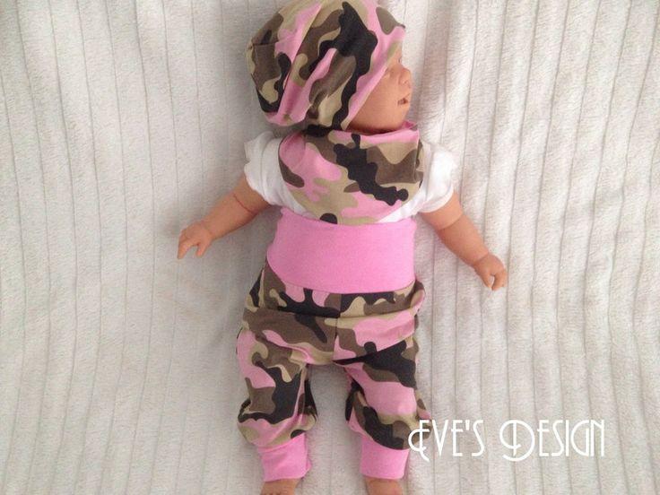 """Pumphosen - Newbornset """"Camouflage rosa"""" Größe 50-86 - ein Designerstück von EvesDesign bei DaWanda"""