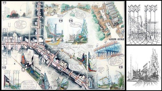 1990-SPECIAL MERIT- INTERNATIONAL PEACHTREE STREET COMPETITION,ATLANTA,GEORGIA,US | Andrzej Ludew | Archinect
