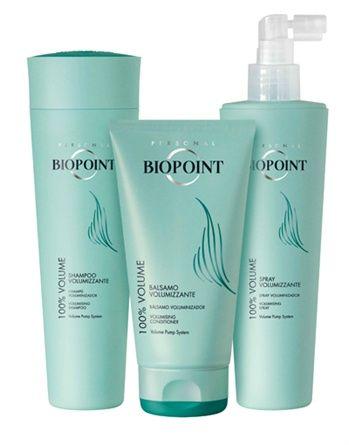 100% VOLUME è una nuovissima linea studiata da Biopoint per regalare ai capelli un volume intenso. Dedicata soprattutto ai capelli fini e fragili, la formula contiene il Volume Pump System che rinforza la fibra del capello dall'interno, per capelli più forti, morbidi e setosi. Biopoint