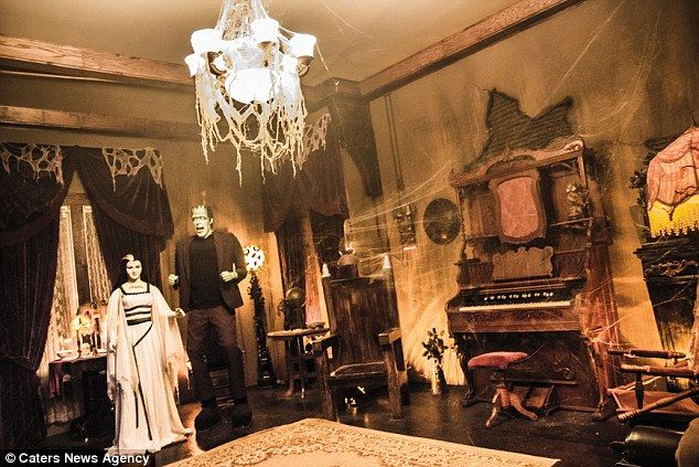 Photos from inside The Munsters real-life replica house that one couple owns!