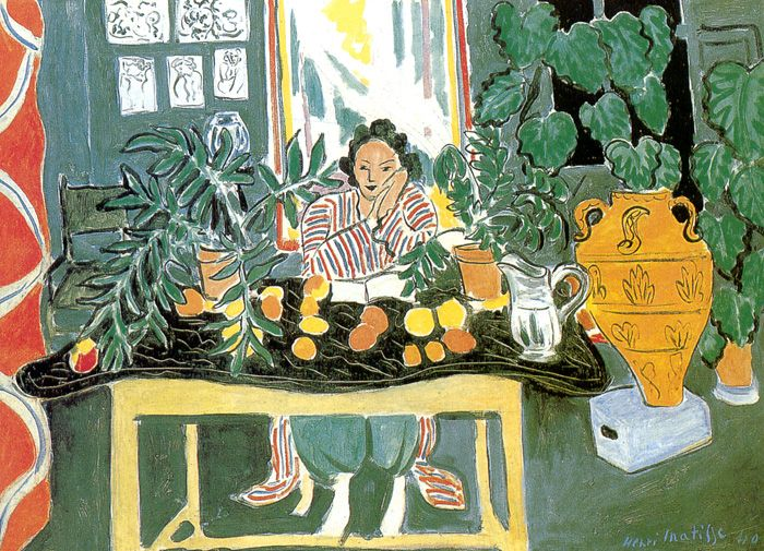 INTERIOR WITH AN ETRUSCAN VASE The Cleveland Museum of Art, Cleveland 73,6 x 108 cm. 1940-Henri Matisse