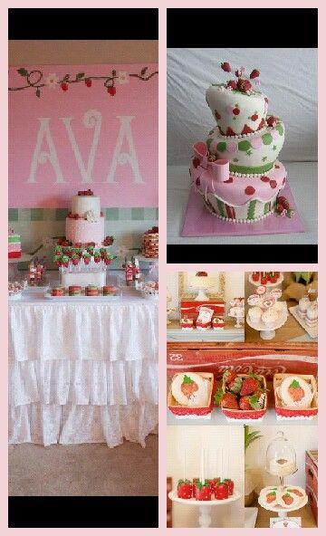 strawberry shortcake baby shower theme baby henderson pinterest