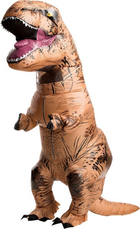 Adult Inflatable T-Rex Dinosaur Costume - Jurassic World - Party City                                                                                                                                                                                 More