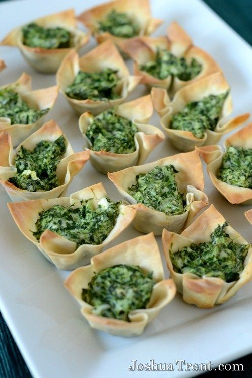 Spinach Cheese Cups from JoshuaTrent.com