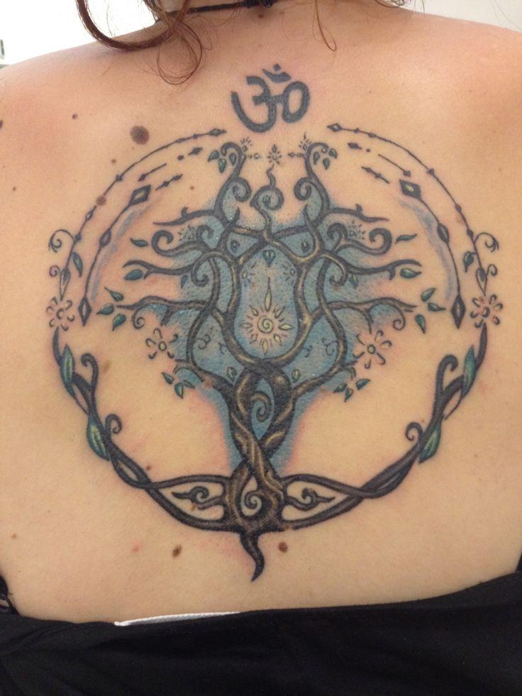 Tree of life, hand poke, Analog Tattoo Budapest