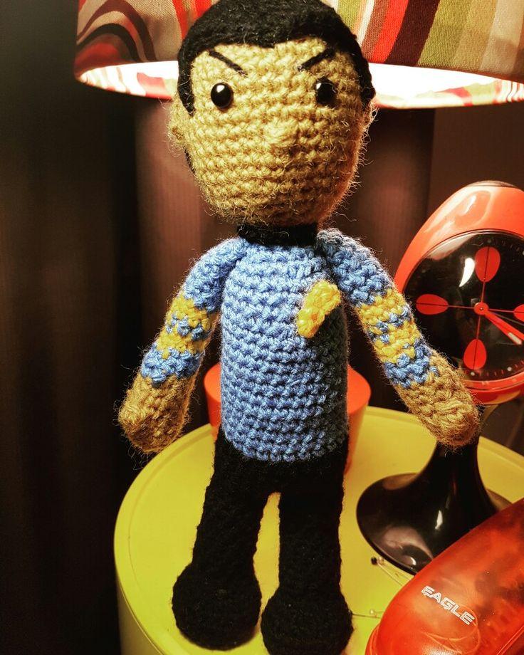 Dr Spock #dirtygrannycrochet #startrek #drspock #crochetdoll