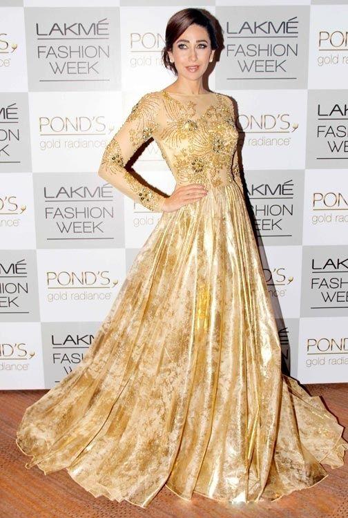 Karisma Kapoor in Vikram Phadnis Lakme Fashion Week 2013