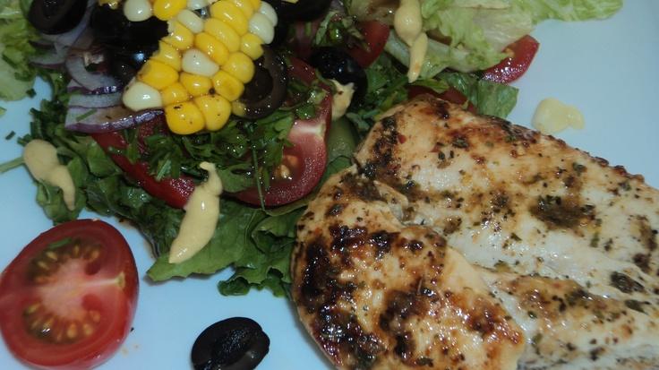 l love to make Grilled Chicken Salads