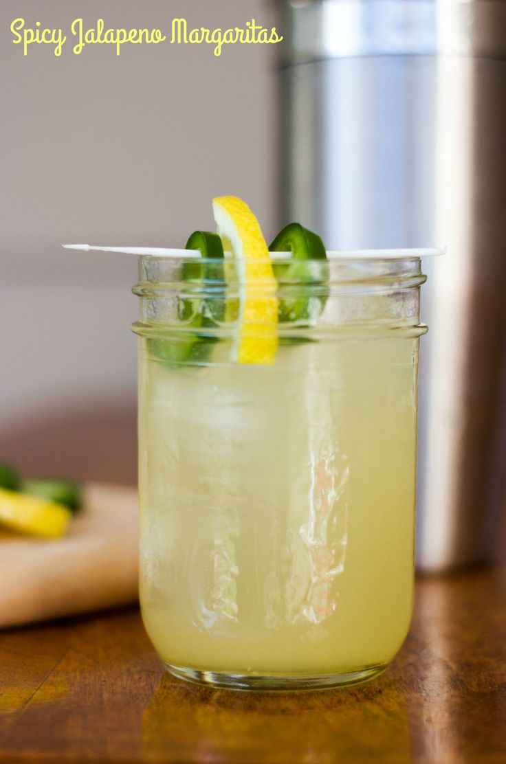 With a few simple ingredients, you can make these amazing spicy jalapeno margaritas at home!
