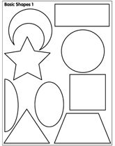 Free coloring pages for young colorers Did this but I cut out matching shapes on colored card stock and my 1.5 year old matches the shapes up. The 3.5 year old likes to play with it too but she knows the names already. :)