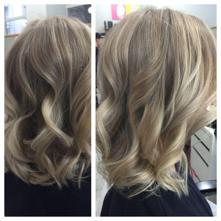 Blonde hair balayage