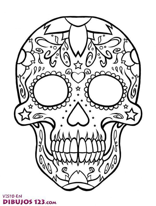 Disenos de calaveras mexicanas dia de los muertos google for Dia de los muertos skull coloring page