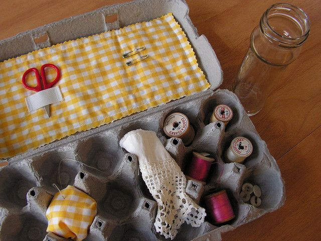 repurposing egg carton
