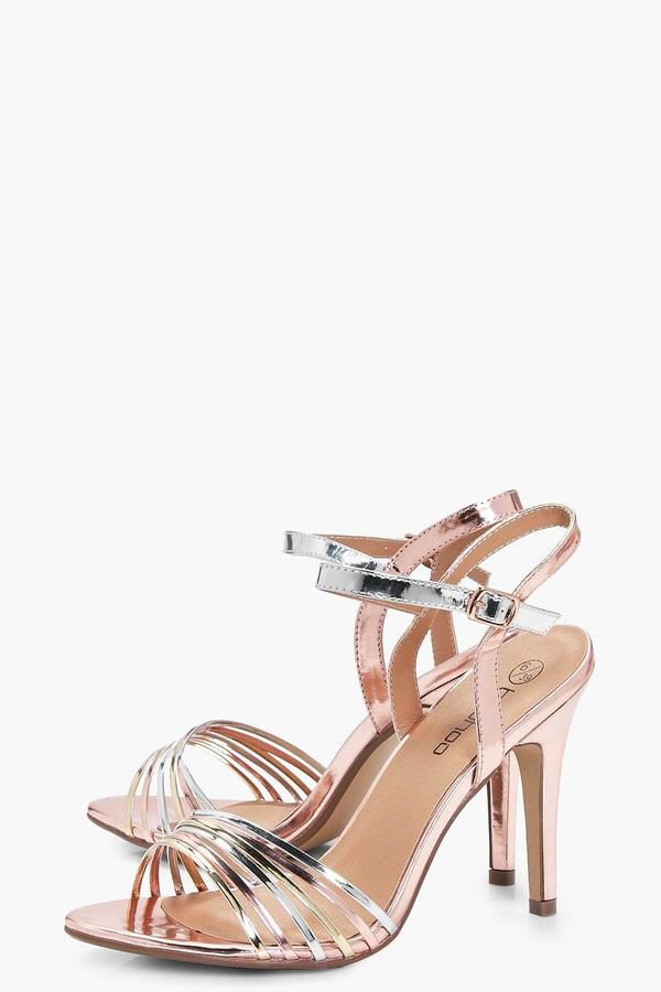 Lea Wide Fit Mixed Metallic Mid Heels - perfect for weddings, proms, parties and even date nights!