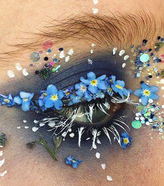 Wauw! Deze make-up artist tovert ogen om tot bloemenparadijs
