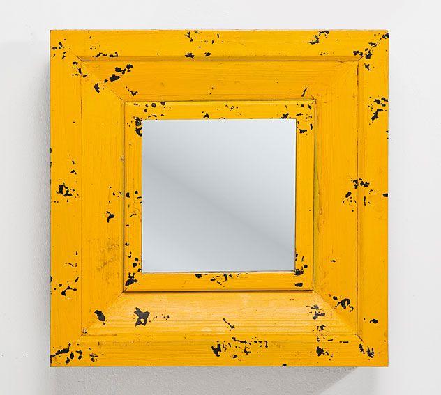 Espejo amarillo Vintage Camera   Material: Madera de Abeto   ... Eur:105 / $139.65