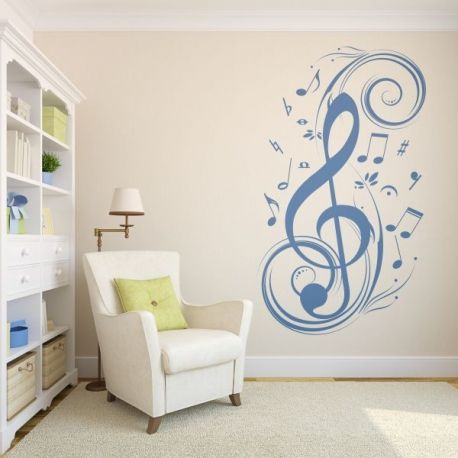 M s de 25 ideas incre bles sobre decoraci n de pared for Vinilo decorativo musical pared