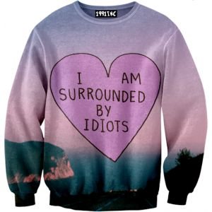 I am Surrounded Idiots Sweater. Why don't I have money