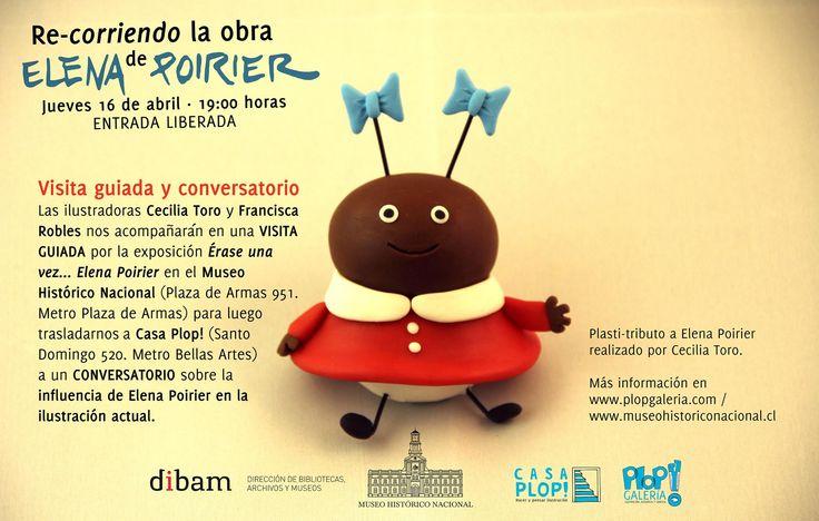 Re-corramos la obra de la ilustradora Elena Poirier! Del Museo Histórico Nacional a Casa PLOP! conversemos sobre su legado para la ilustración chilena.