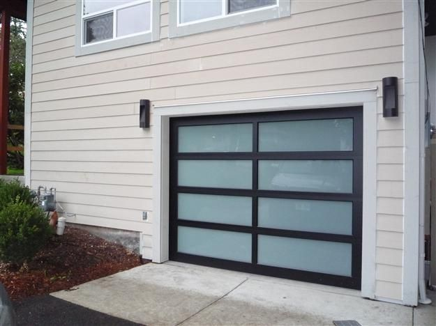 Glass garage doors residential full view aluminum for Abc garage doors houston