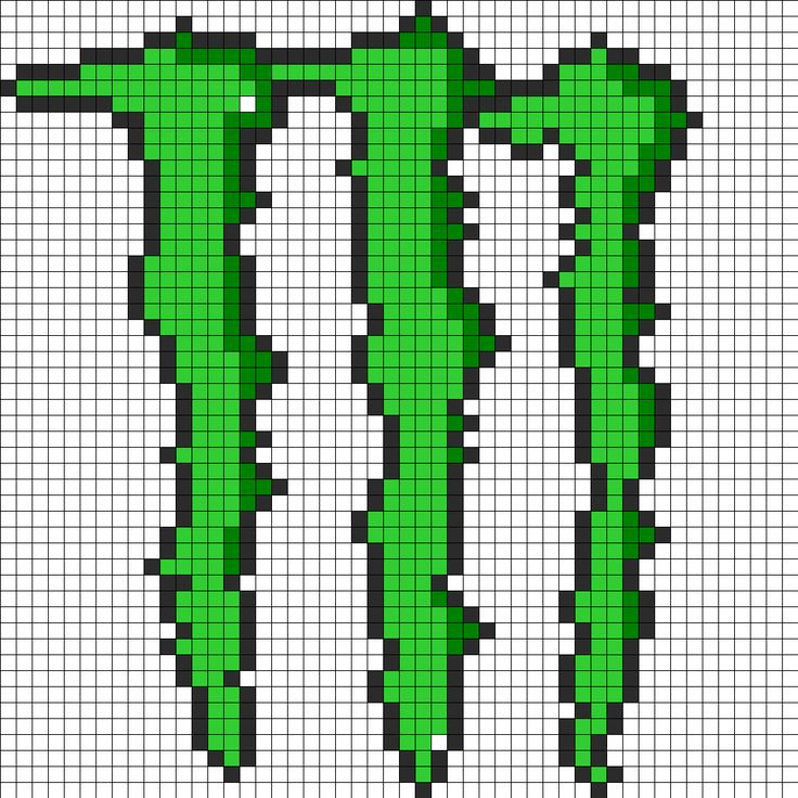 Monster Perler Bead Large Perler Bead Pattern   Bead Sprites ...