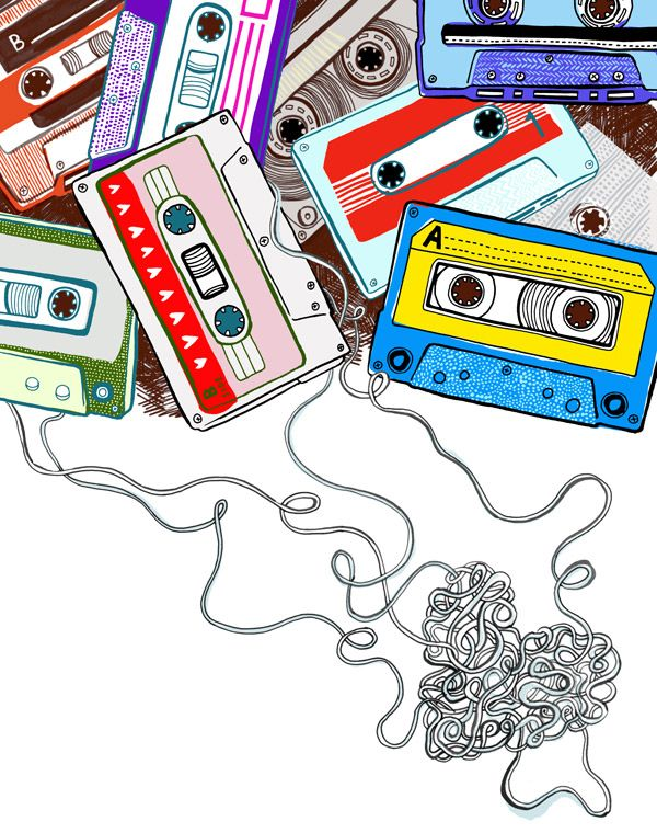 love is a mix tape. #musicart #cassette http://www.pinterest.com/TheHitman14/music-drawn-%2B/