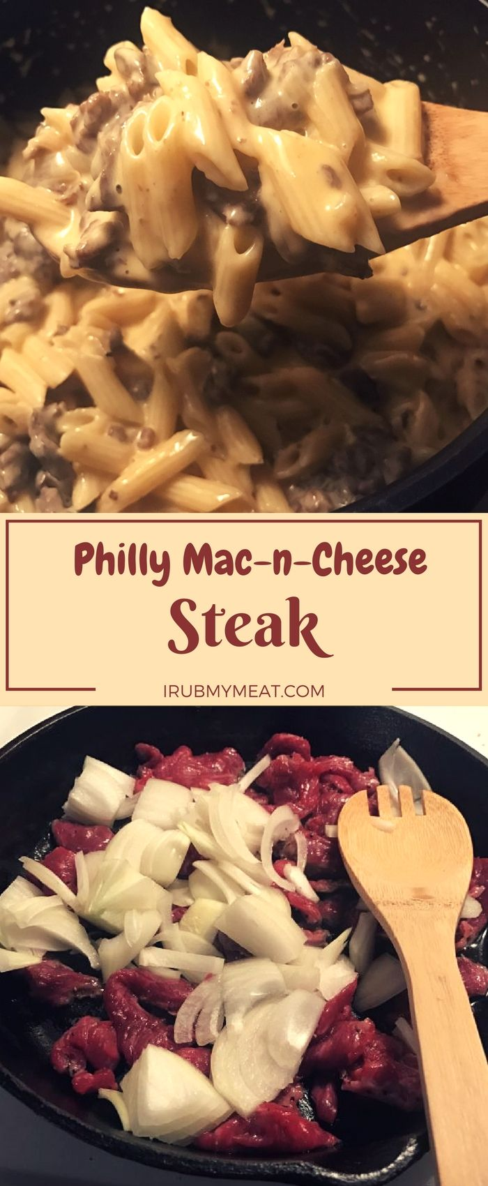 Philly Cheese Steaks are made using rib-eye or top round, but you can use other cuts of beef as well. I usually choose a thick cut steak with good marbling and color. If you toss it in the freezer for 20 or 30 minutes it can be much easier to slice thinner pieces. irubmymeat.com