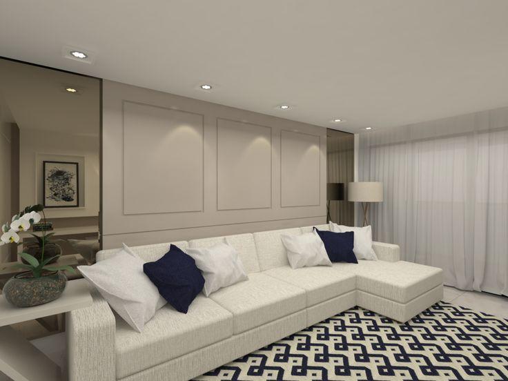 Sala de estar apartamento P | H - projeto Rubatino Arquitetura  #decoração #arquiteto  #projetodeinteriores #livingroom