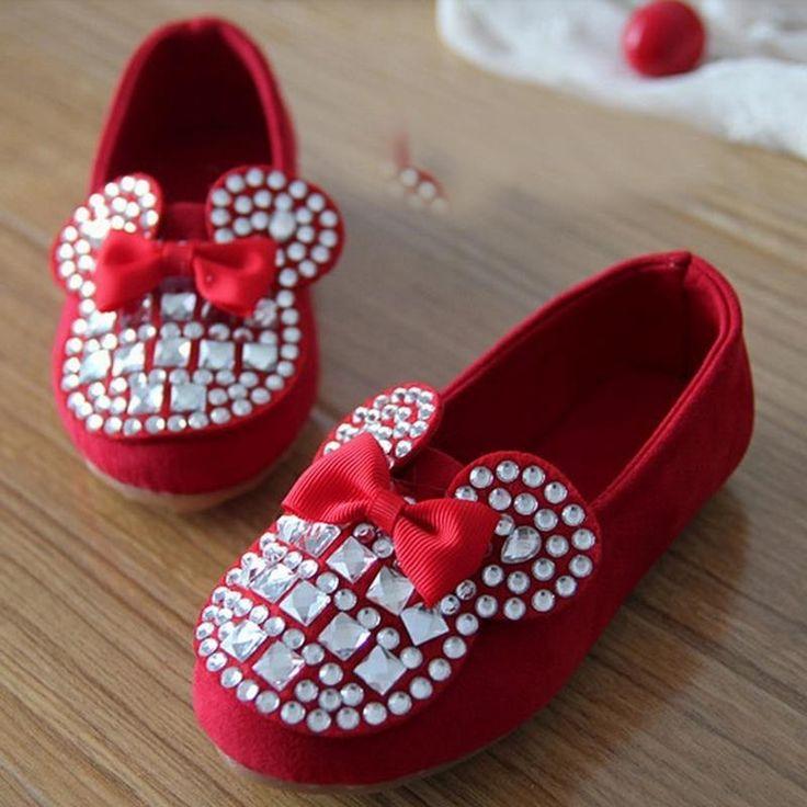 Zapatos de los niños 2016 Nuevos Niños de la Marca Zapatos de La Princesa Muchachas de La Manera Zapatillas Niñas Zapatos de Un Solo Zapatos Planos de Dibujos Animados