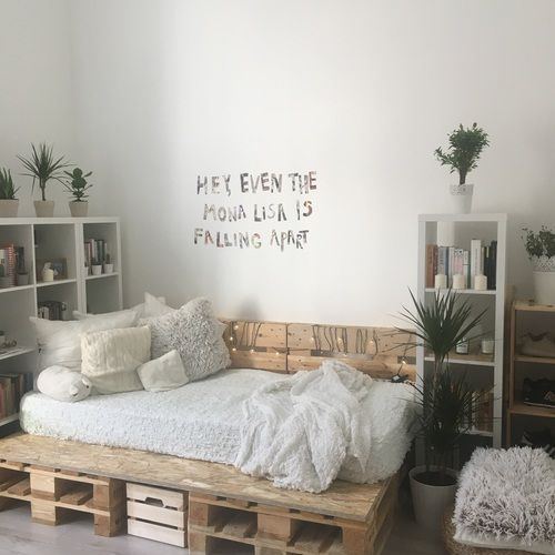 16 ideas para decorar una habitaci n blanca ideas pinterest wohnen. Black Bedroom Furniture Sets. Home Design Ideas