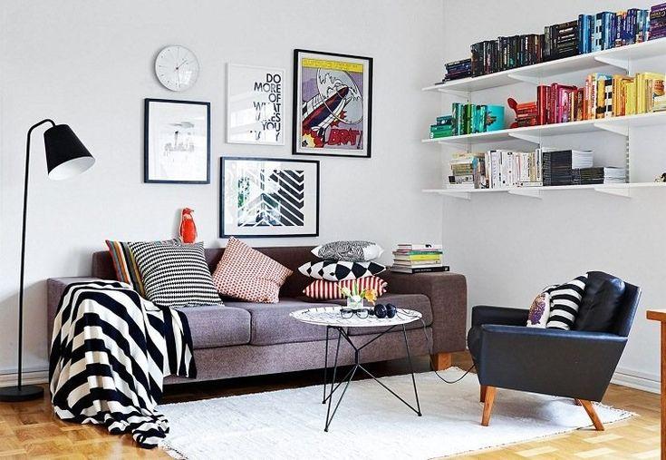 Déco murale salon – 27 idées pour les intérieurs blancs