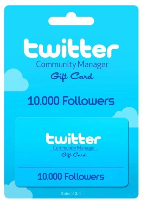 Twitter Gift Card - 10.000 Followers