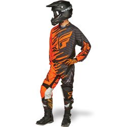 Fly Racing Kinetic Shock Motocross Kit Combo - Orange Black - 2014 Fly Racing Motocross Kit - 2014 Motocross Gear - by Fly