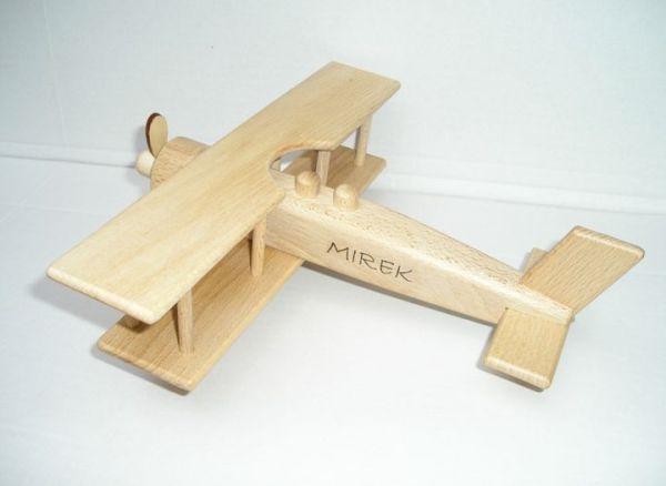 Dřevěné hračky letadlo obchody Praha