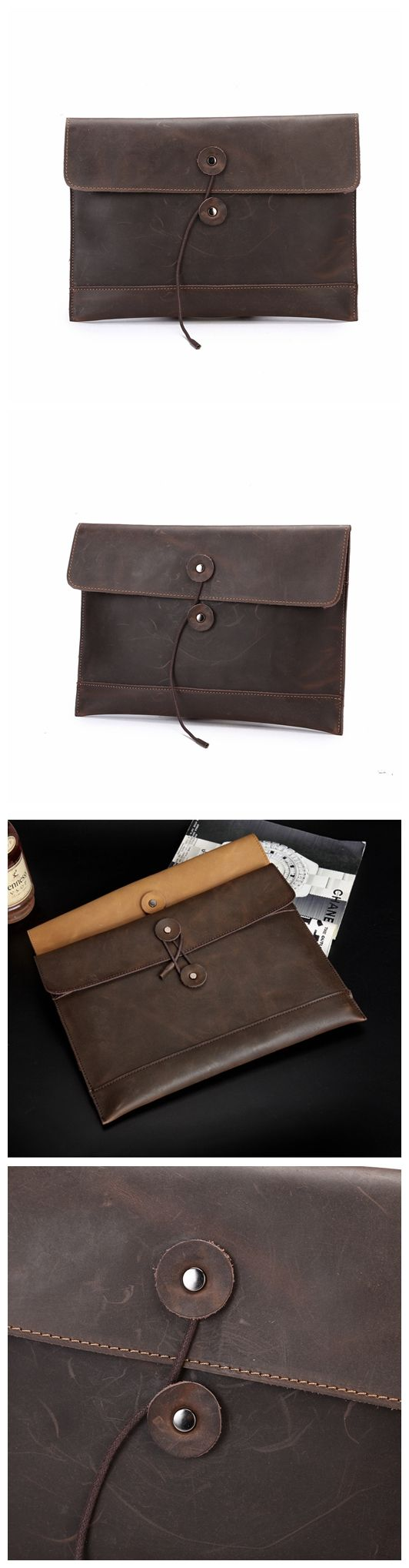 Handmade Brown Leather Wallet Leather Purse