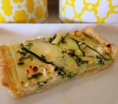 Zucchini & Feta Tart Thermomix Recipe