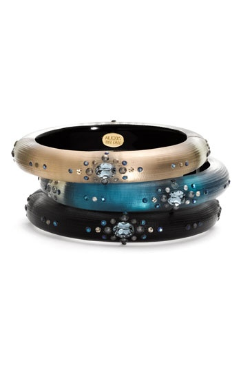 Alexis Bittar 'Periwinkle Dust' Small Hinged Bracelet