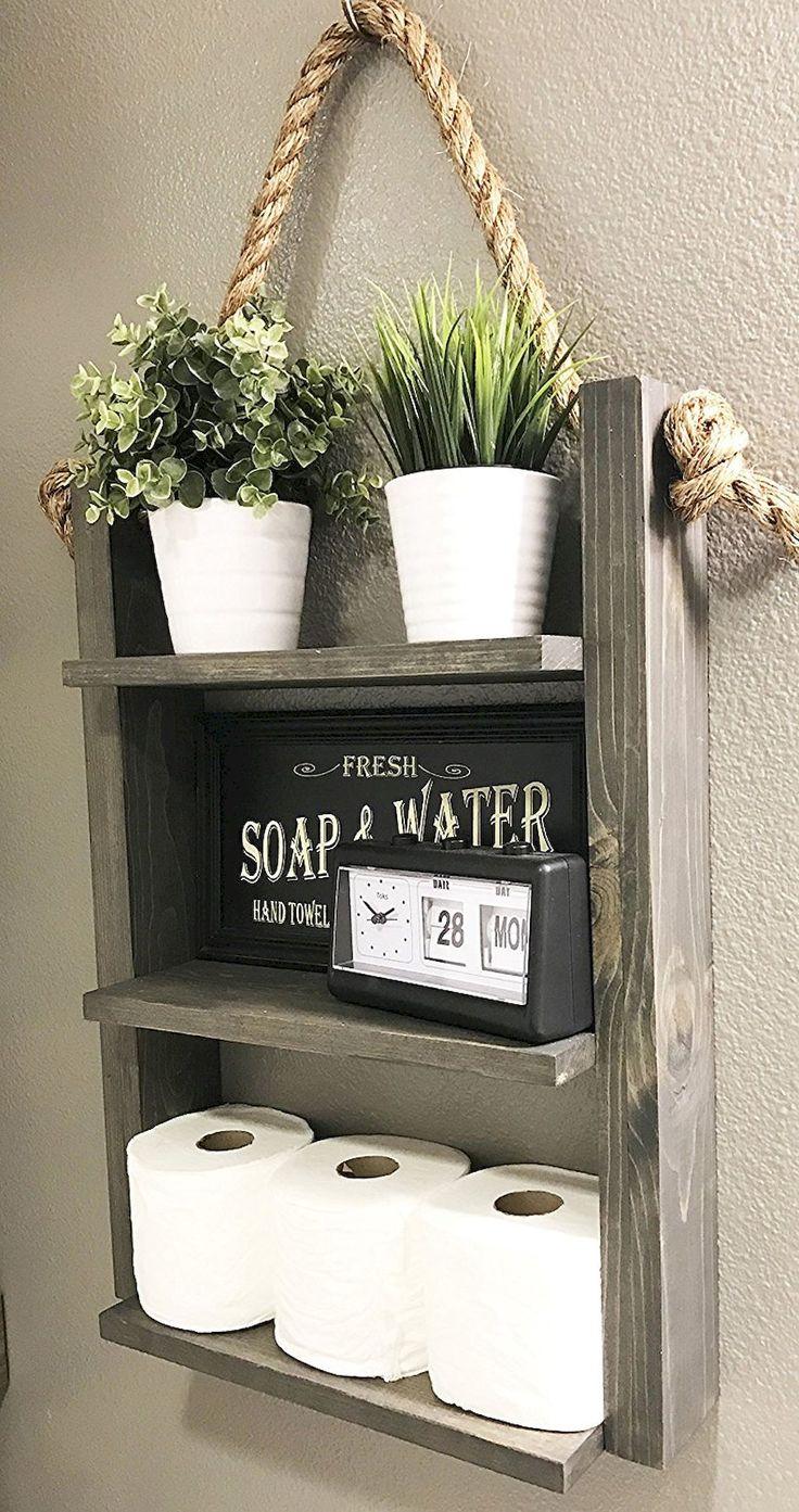 Awesome 45 Quick and Easy Bathroom Organization Storage Ideas https://homevialand.com/2017/08/16/45-quick-easy-bathroom-organization-storage-ideas/