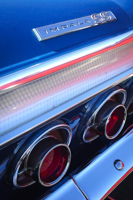 1964 Chevrolet Impala SS Taillight Photograph by Jill Reger - 1964 Chevrolet Impala SS Taillight Fine Art Prints and Posters for Sale