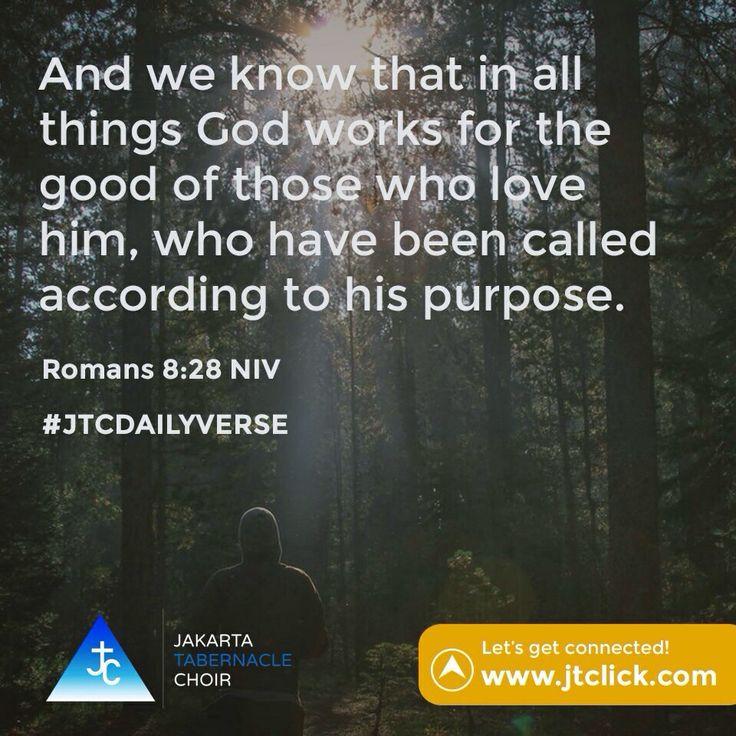Romans 8:28 #JTCDailyVerse