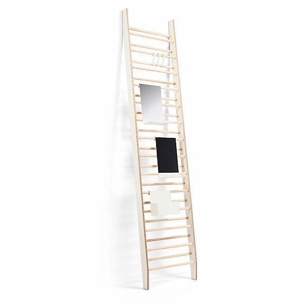 PLATZWART ist eine konsequente Ergänzung zum ZEUGWART. Beide Leitern sind identisch und formschlüssig zu kombinieren. - Schuhregal Platzwart