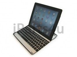 iPad Aluminium Keyboard Case Zwart Toetsenbord