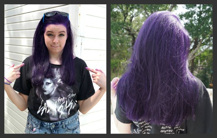 How to Dye Your Hair Purple (NO BLEACH)!!!!Wonder if this would work on my darker hair.