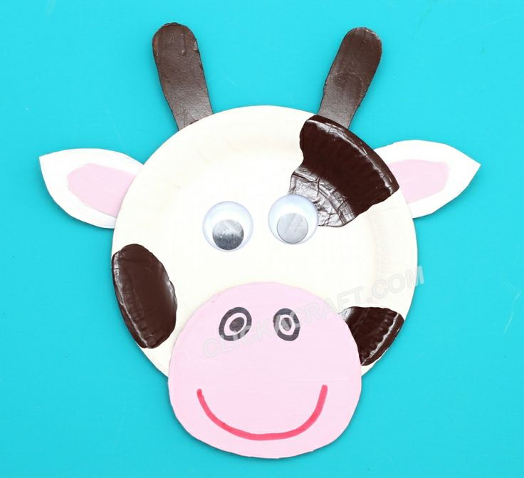 Week 1 theme Paper Plate Cow - Craft Ideas of Making Cute Paper Plates Animals with Children  sc 1 st  Pinterest & 379 best the farm images on Pinterest | Farms Preschool and Farm ...