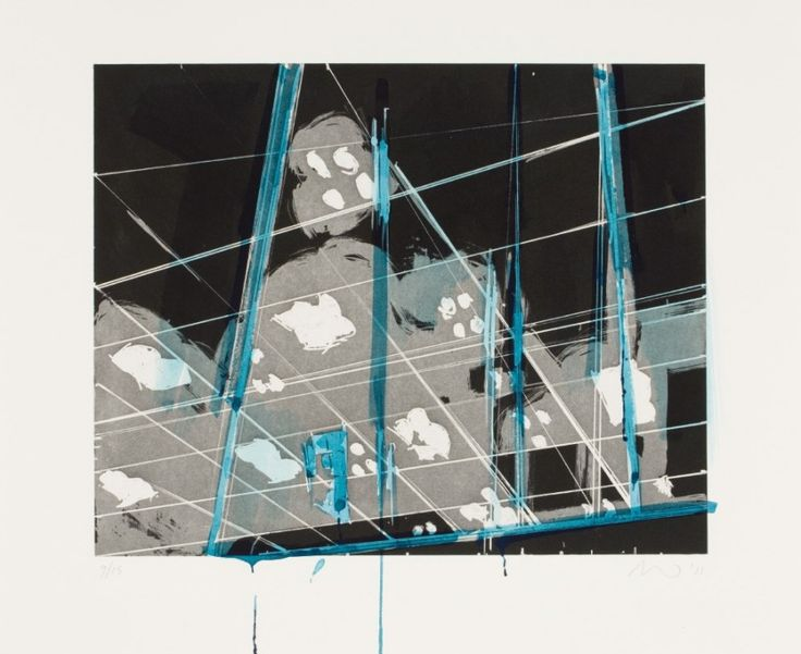 Spots 9 (2011). Aquatint and Hand-Painting